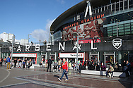 a General view of outside the Emirates Stadium. Premier league match, Arsenal v Middlesbrough at the Emirates Stadium in London on Saturday 22nd October 2016.<br /> pic by John Patrick Fletcher, Andrew Orchard sports photography.