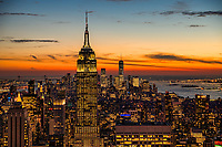 Empire State Building & Downtown New York (background)