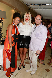 Left to right, RACHEL BARRETT, PRINCESS ELISABETH THURN & TAXIS and NICHOLAS KIRKWOOD at an evening of Dinner & Dancing at Daphne's, 112 Draycott Avenue, London SW3 on 24th July 2013.
