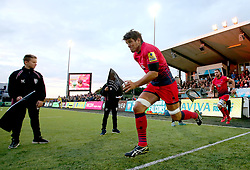 Donncha O'Callaghan of Worcester Warriors runs out at Kingston Park to face Newcastle Falcons - Mandatory by-line: Robbie Stephenson/JMP - 01/09/2017 - RUGBY - Kingston Park - Newcastle upon Tyne, England - Newcastle Falcons v Worcester Warriors - Aviva Premiership