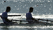31/08/2003 Sunday.2003 World Rowing Championships, Idroscala. Milan, Italy.  {A Finals].GBR M4+  Silver medal.left, Richard Egington, 3 Kieran West, Milan. ITALY 2003 World Rowing Championships. Idro Scala Rowing Course. [Mandatory Credit: Peter Spurrier: Intersport Images.]