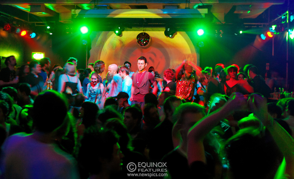 London, United Kingdom - 26 January 2008<br /> The final night of gay indie club Popstarz at the Scala, King's Cross, London, UK before it moves to its new home of Sin nightclub in Soho.<br /> (photo by: EDWARD HIRST/EQUINOXFEATURES.COM)<br /> <br /> Picture Data:<br /> Photographer: EDWARD HIRST<br /> Copyright: ©2008 Equinox Licensing Ltd. +448700 780000<br /> Contact: Equinox News Pictures Ltd.<br /> Date Taken: 20080126<br /> Time Taken: 010514+0000<br /> www.newspics.com