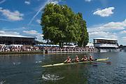 Henley-on-Thames. United Kingdom.  2017 Henley Royal Regatta, Henley Reach, River Thames. <br /> Final Women's Four. Hollandia Roeiclub, Netherland, passing through the The Stewards Enclousure.<br /> <br /> 15:27:11  Sunday  02/07/2017   <br /> <br /> [Mandatory Credit. Peter SPURRIER/Intersport Images.