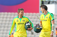 Cricket - 2019 ICC Cricket World Cup warm ups - Australia vs. Sri Lanka<br /> <br /> Alex Carey and Pat Cummins after finishing the batting at the cricket world cup warm up match at the Hampshire Bowl Southampton England<br /> <br /> COLORSPORT/SHAUN BOGGUST