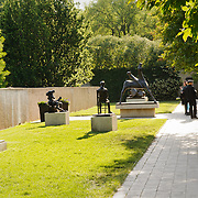 Sculpture garden of the Hirshhorn Gallery, part of the Smithsonian Institution in Washington DC.