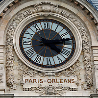 Europe, France, Paris. Clock Face of Musee D'Orsay, a former railway station.