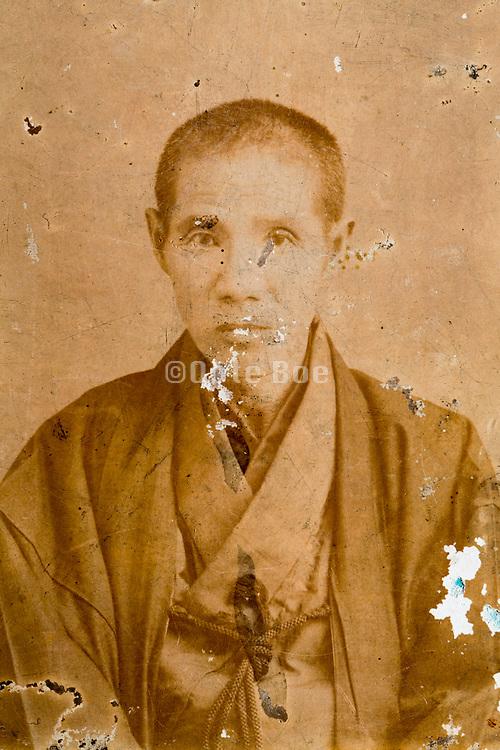 portrait of man in kimono Japan ca 1930s