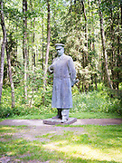 A statue of Josef Stalin stands in Grutas Park, near Alytus, Lithuania
