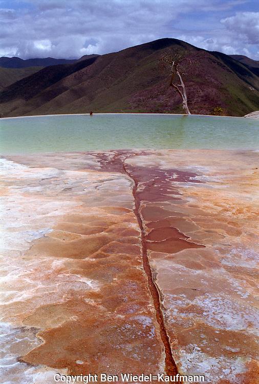 Mexico Oaxaca Hirve el Agua North America Hierve el Aguas Calientes or The Water Boils and consists of petrified minerals..