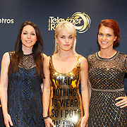 NLD/Amsterdam/20151015 - Televiziergala 2015, K3, Josje Huisman, Kristel verbeke en Karin Damen