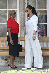 Rihanna during the 'Man Aware' event held by the Barbados National HIV/AIDS Commission in Bridgetown, Barbados, during his tour of the Caribbean.