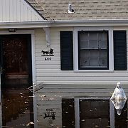 NEW ORLEANS, LA - September 4, 2005:  A statue of the Virgin Mary is visible in front of a flooded home on Sept, 4, 2005 in New Orleans following the destruction caused by Hurricane Katrina. . (Photo by Todd Bigelow/Aurora)