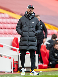 LIVERPOOL, ENGLAND - Sunday, March 7, 2021: Liverpool's manager Jürgen Klopp during the FA Premier League match between Liverpool FC and Fulham FC at Anfield. Fulham won 1-0 extending Liverpool's run to six consecutive home defeats. (Pic by David Rawcliffe/Propaganda)
