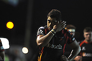 Toby Faletau looks on. Rabodirect Pro12 rugby union match, Newport Gwent Dragons v Zebra at Rodney Parade in Newport on Friday 4th Oct 2013. pic by Andrew Orchard, Andrew Orchard sports photography