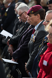 The Armistice Day service at the War Memorial Arboretum, in Staffordshire.