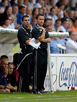 Photo: Jed Wee.<br />Hartlepool United v Swindon Town. Coca Cola League 2.<br />05/08/2006.<br /><br />Swindon manager Dennis Wise (R) with assistant manager Gustavo Poyet.