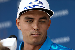 May 13, 2017 - Ponte Vedra Beach, Florida, United States - Rickie Fowler speaks to the media after the third round of The PLAYERS Championship at TPC Sawgrass. (Credit Image: © Debby Wong via ZUMA Wire)