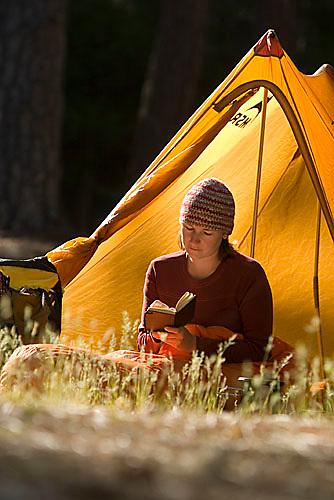 Sarah Meredith backpacking in Yosemite National Park, CA