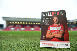 Mtach day program on display inside Ashton Gate Stadium. - Mandatory by-line: Alex James/JMP - 05/01/2019 - FOOTBALL - Ashton Gate Stadium - Bristol, England - Bristol City v Huddersfield Town - Emirates FA Cup third round proper