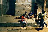 Playing cards in Gibara, Holguin, Cuba.