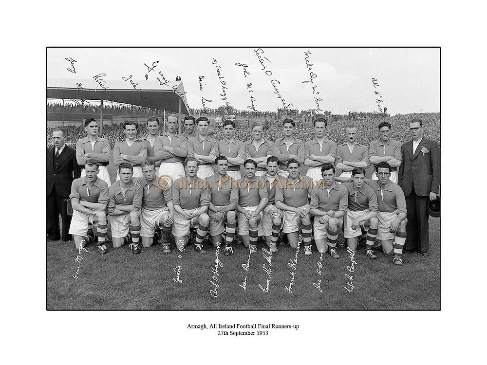 All Ireland Football Final Senior <br /> Armagh, Croke Park<br /> <br /> 27.09.1953  27th September 1953