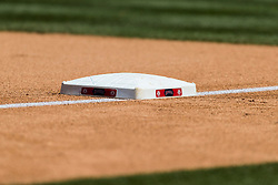 June 3, 2018 - Anaheim, CA, U.S. - ANAHEIM, CA - JUNE 03: First base during the MLB regular season game against the Texas Rangers and the Los Angeles Angels of Anaheim on June 03, 2018 at Angel Stadium of Anaheim in Anaheim, CA. (Photo by Ric Tapia/Icon Sportswire) (Credit Image: © Ric Tapia/Icon SMI via ZUMA Press)
