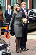 Streekbezoek Koning en Koningin in de voormalige Mijnstreek Limburg /// Region Visit King and Queen in the former mining region of Limburg<br /> <br /> op de foto / on the photo: <br /> <br />  Koning Willem-Alexander en koningin Maxima bij aankomst in Kerkrade  //  King Willem-Alexander and Queen Maxima on arrival in Kerkrade