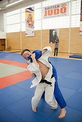 © London News Pictures. 23/08/2012. Dartford, Kent. Judo Paralympian Ben Quilter in training. Britain's leading judokas from ParalympicsGB in training at their national base in Dartford, Kent before competeing in London2012. Picture credit should read Manu Palomeque/LNP