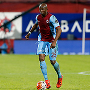 Trabzonspor's Stephane Mbia during their Turkish Super League match Trabzonspor between Gaziantepspor at the Avni Aker Stadium at Trabzon Turkey on Wednesday, 28 October 2015. Photo by Aykut AKICI/TURKPIX