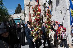 2018 Holy Week: Armenian Palm Sunday in Jerusalem