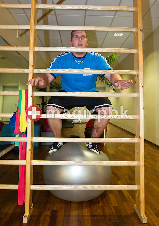 Swiss wrestling star Christian STUCKI of Switzerland is pictured during weight training at the Arena Fitness in Berne, Switzerland, Thursday, May 26, 2011. (Photo by Patrick B. Kraemer / MAGICPBK)