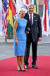 July 7, 2017 - Hamburg, Hamburg, Deutschland - Christine Lagarde mit Gatte Xavier Giocanti bei der Ankunft zu einem Konzert in der Elbphilharmonie im Rahmen des G20-Gipfel. Hamurg, 07.07.2017 (Credit Image: © Future-Image via ZUMA Press)