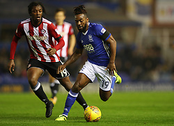 Birmingham City's Jacques Maghoma (right) and Brentford's Romaine Sawyers