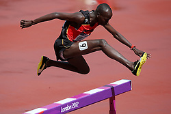 Olympics - London 2012 Olympic Games - 3/8/12.Athletics, 3000m Steeple, Hindernis, Benjamin Kiplagat (UGA).©Êpixathlon *** Local Caption ***