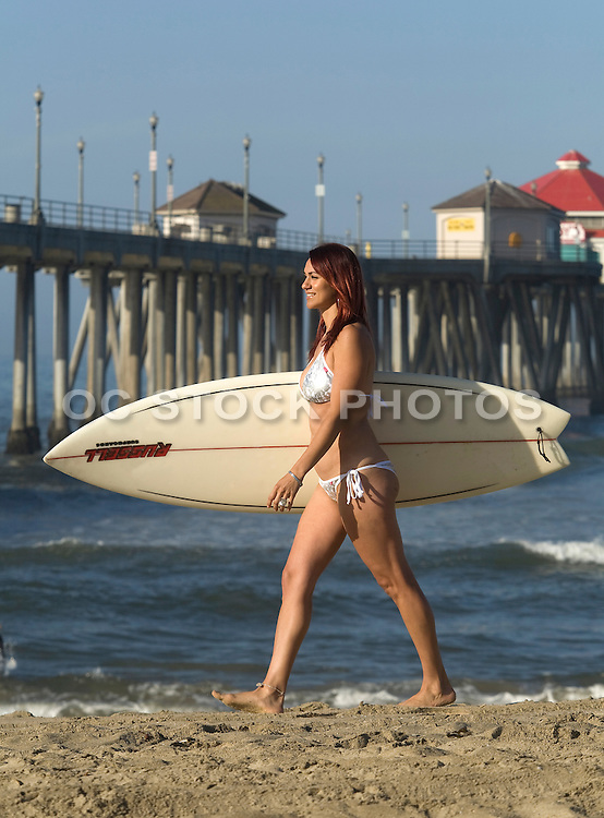 Female Surfer Huntington Beach