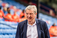 LONDON, ENGLAND - MARCH 31: Roy Hodgson Crystal Palace manager arrived for  the Premier League match between Crystal Palace and Liverpool at Selhurst Park on March 31, 2018 in London, England.
