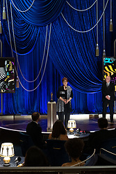 Jan Pascale and Donald Graham accept the Oscar® for Production Design during the live ABC Telecast of The 93rd Oscars® at Union Station in Los Angeles, CA, USA on Sunday, April 25, 2021. Photo by Todd Wawrychuk/A.M.P.A.S. via ABACAPRESS.COM