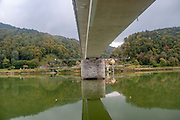 Concrete bridge over the Danube River near Melk, Austria