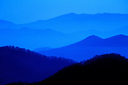 NC, VA, Image of mountains and rolling hills from Blue Ridge Parkway's Skyline Drive at Shenandoah National Park, North Carolina and Virginia, east coast by Randy Wells