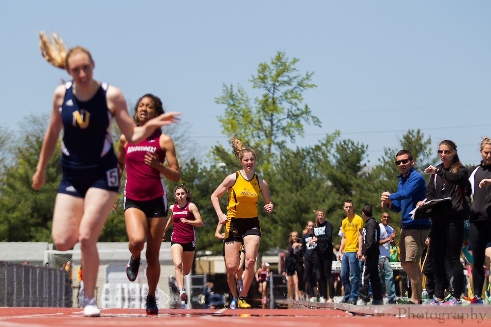 Rowan University's Jessalynn Wright competes in the women's 800 meter at the NJAC Track and Field Championships at Richard Wacker Stadium on the campus of  Rowan University  in Glassboro, NJ on Sunday May 5, 2013. (photo / Mat Boyle)