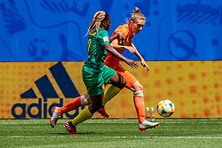 15-06-2019 FRA: Netherlands - Cameroon, Valenciennes<br /> FIFA Women's World Cup France group E match between Netherlands and Cameroon at Stade du Hainaut / Claudine Meffometou #12 of Cameroon, Vivianne Miedema #9 of the Netherlands
