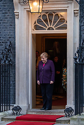 © Licensed to London News Pictures. 03/12/2019. London, UK. Angela Merkel pictured as NATO Leaders' arrive at Downing Street. Photo credit: Peter Manning/LNP