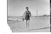 """Louis J. Balbach, 1915. Champion high diver of the U. S."" (Wearing Windemuth Life Guard shirt)"
