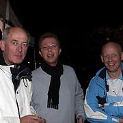 NLD/Huizen/20080912 - Huizerdag 2008, wijn en kaas proeverij Oude Raadhuisplein Huizen burgemeester Frans Willem van Gils en Jaap Weijermans