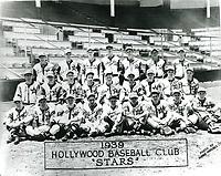 1939 Hollywood Stars Baseball Team at Gilmore Field
