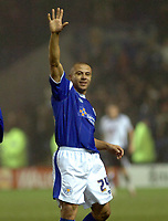 Photo: Kevin Poolman.<br /> Leicester City v Fulham. The FA Cup. 06/01/2007. Danny Cadamarteri of Leicester celebrates his goal to make it 2-2.