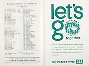 All Ireland Senior Hurling Championship Final,.06.09.1964, 09.06.1964, 6th September 1964,.Minor Cork v Laois, .Senior Kilkenny v Tipperary, Tipperary 5-13 Kilkenny 2-08,..The Medals for the All Ireland Championships are made by J Miller 17 Duke Street Dublin 2, ...CIE,.Let's go together, .