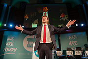 Brexit Party chairman and eastern MEP Richard Tice addresses delegates at the final event of the Brexit Party Tour in London, United Kingdom on 27th September 2019. In the event of a general election being called, the party has already selected prospective parliamentary candidates in  constituencies across the UK .