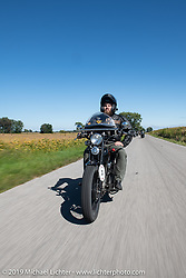 Buck Carson riding his 1925 Harley-Davidson in the Motorcycle Cannonball coast to coast vintage run. Stage 5 (229 miles) from Bowling Green, OH to Bourbonnais, IL. Wednesday September 12, 2018. Photography ©2018 Michael Lichter.