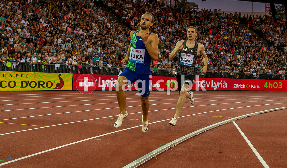 Amel TUKA of Bosnia and Herzegovina competes in the Men's 800m during the Iaaf Diamond League meeting (Weltklasse Zuerich) at the Letzigrund Stadium in Zurich, Switzerland, Thursday, Aug. 29, 2019. (Photo by Patrick B. Kraemer / MAGICPBK)